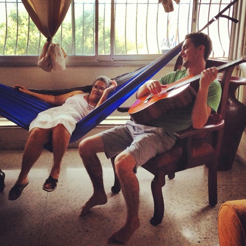 My brothers later arrived and put up the hammock right away!