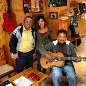 With Guitar luthier, Valeriano Bernal, in Algodonales