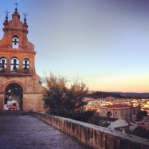 A view of Aracena, from it's hilltop cathedral and castle ruins.